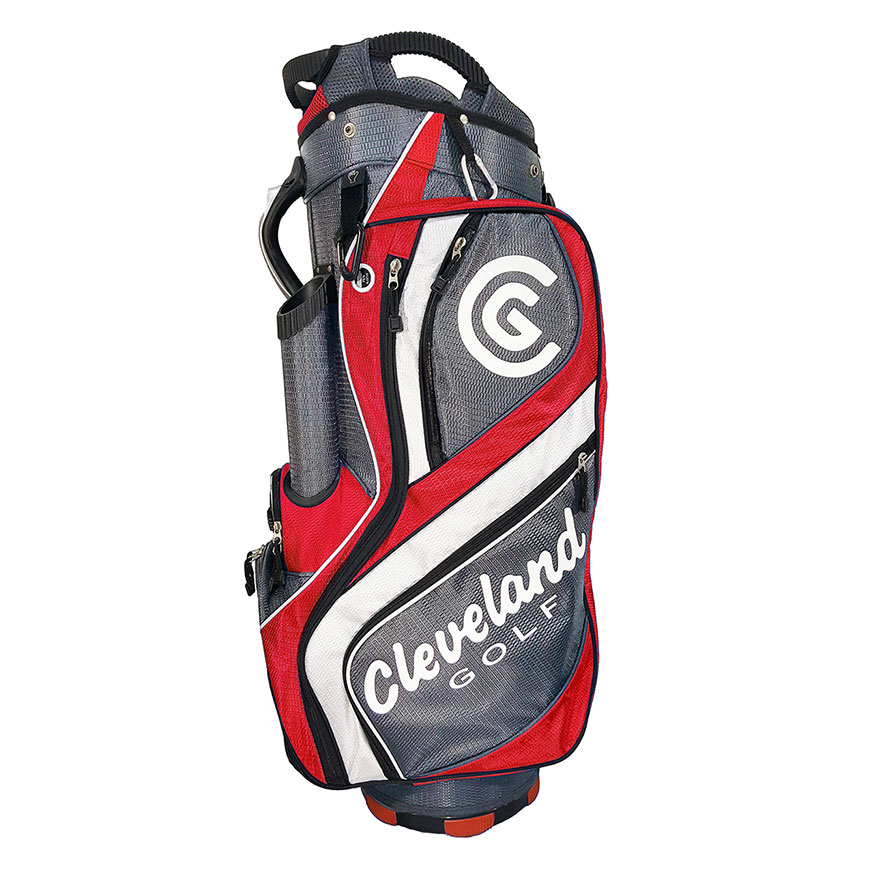 CART BAG,Charcoal/Red/White